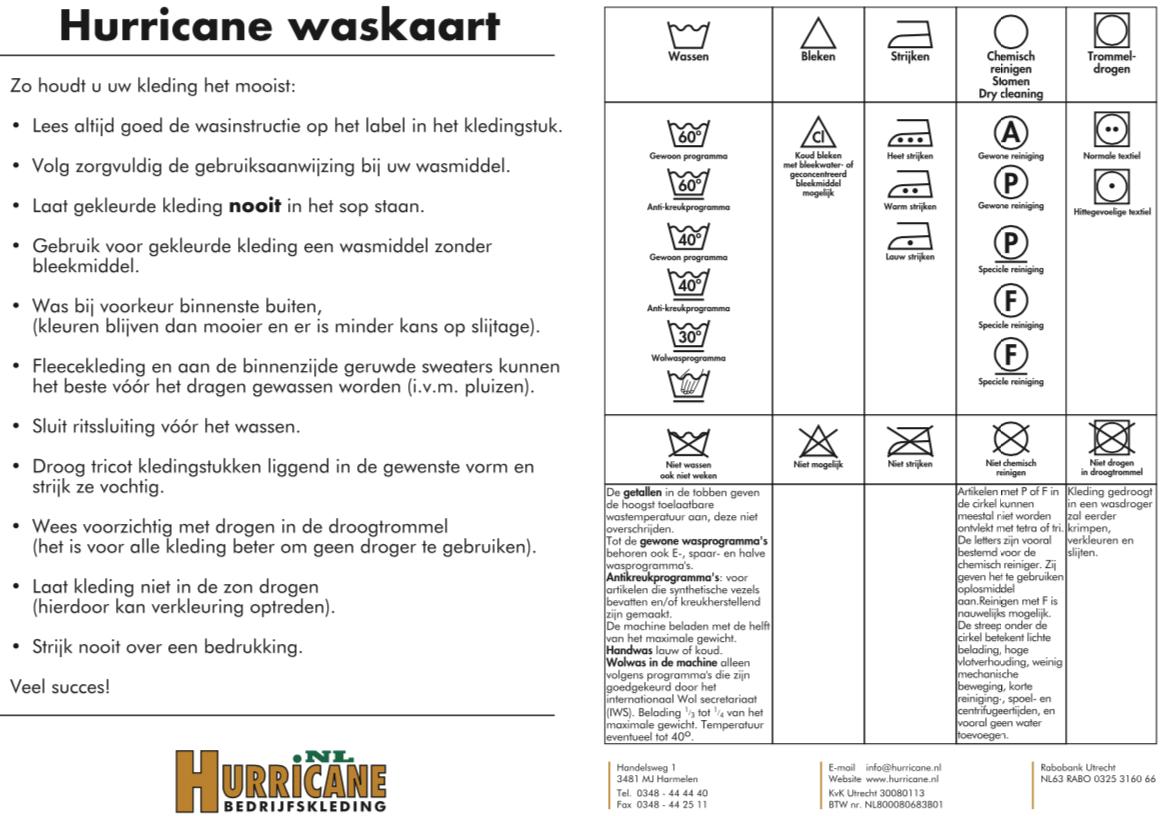Wasinstructies
